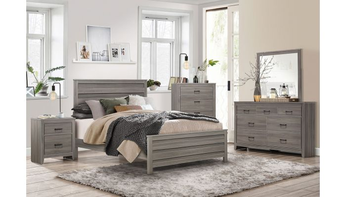 Kern Rustic Gray Bedroom Furnitu