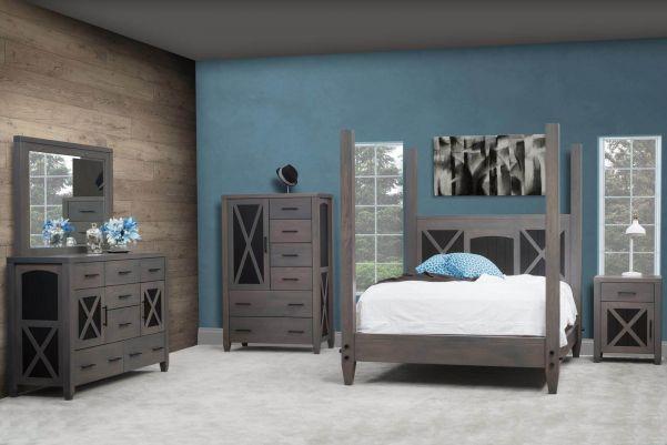 Gray American Made Bedroom Furniture - Countryside Amish Furnitu
