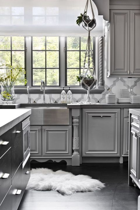 32 Best Gray Kitchen Ideas - Photos of Modern Gray Kitchen .