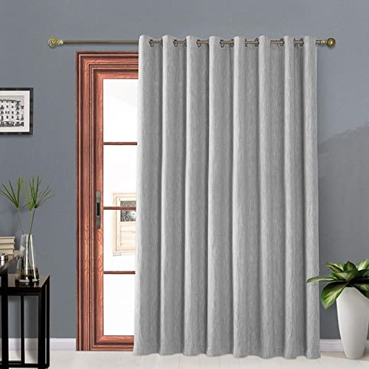 Amazon.com: Melodieux Elegant Cotton Wide Blackout Curtains for .