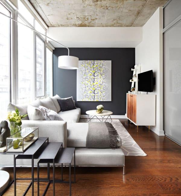 51 Modern and fresh interiors showcasing gray pai