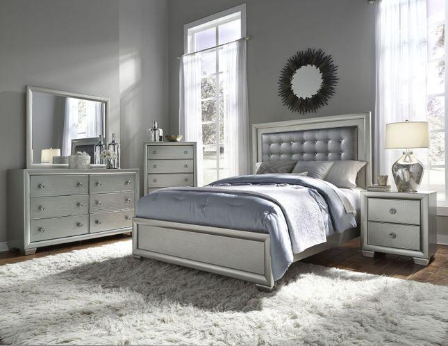Celestial Glam Bedroom Set Queen Bed&Nightstand/Option; Dresser .