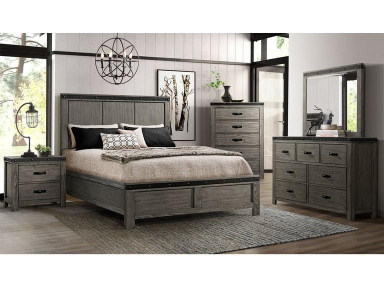 6pc Wade Grey Queen Bedroom Set | WE600 6PCQBED | Bedroom Groups .