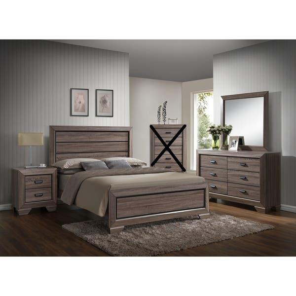 Shop Large Scale Rustic Wooden Grey Queen Bedroom Set - Overstock .