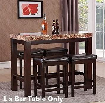 Amazon.com - GTU Forniture Elegant Faux Marble High Top Kitchen .