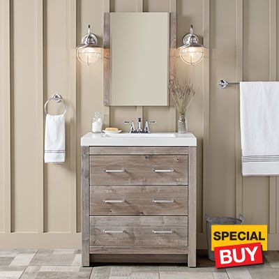 Vanity on sale at Home Depot for $199 | Home depot bathroom vanity .