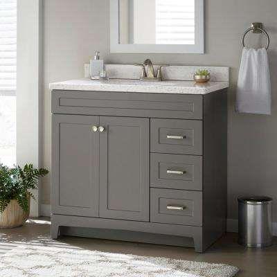 Thornbriar 36 in. W x 21 in. D Bathroom Vanity Cabinet in Cement .