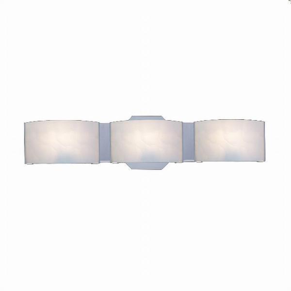 Hampton Bay Dakota 3-Light Satin Nickel Vanity Light with Frosted .