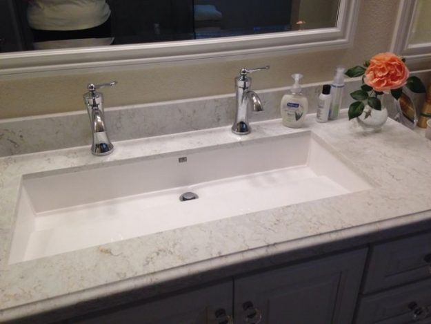 Sinks Awesome Undermount Trough Sink Home Depot Bathroom Sinks For .