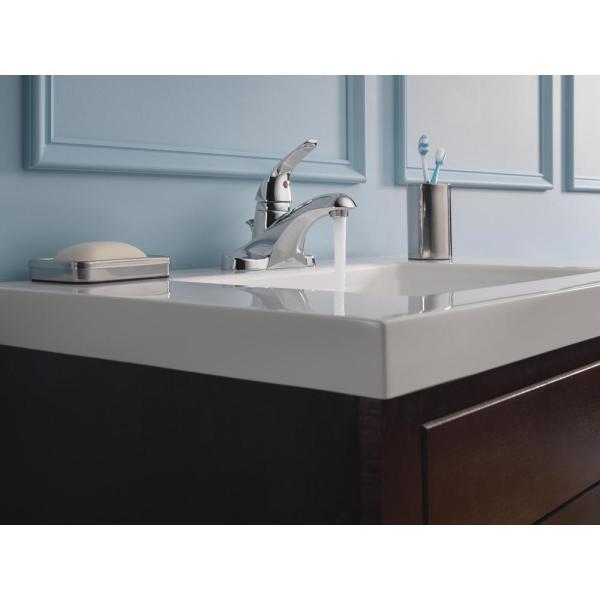 Delta Foundations 4 in. Centerset Single-Handle Bathroom Faucet in .