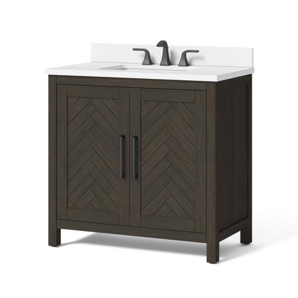 Home Decorators Collection Leary 36 in. W x 34.5 in. H Bath Vanity .