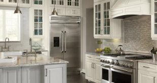 American Woodmark Custom Kitchen Cabinets Shown in Classic Style .