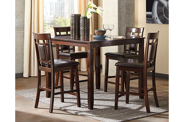 Bennox Counter Height Dining Table and Bar Stools (Set of 5 .