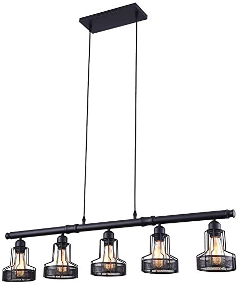 mirrea Rustic Kitchen Island Lights 5 Lights Ceiling Light Fixture .