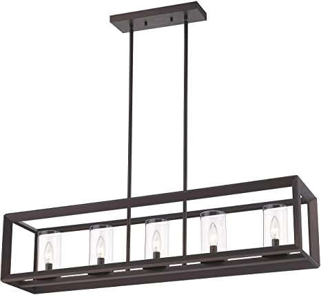 Amazon.com: Emliviar 5-Light Kitchen Island Lighting, Modern .