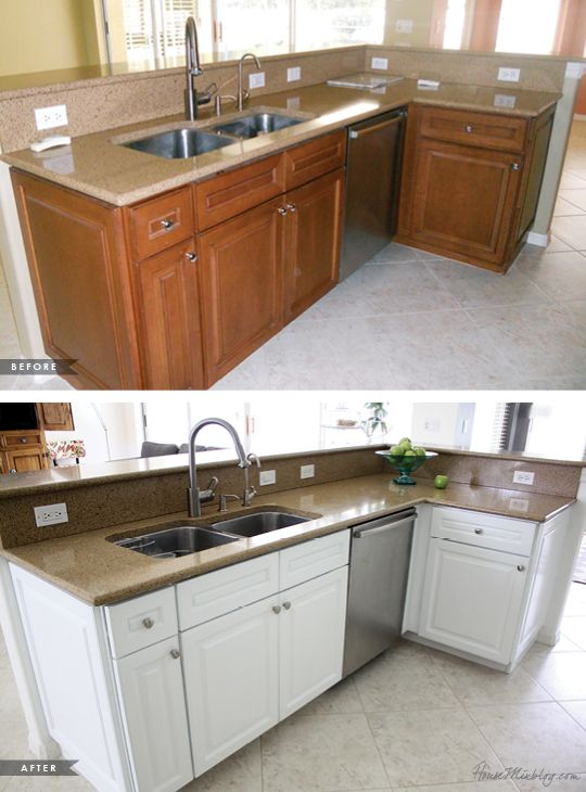 How I transformed my kitchen with paint | Painting kitchen .