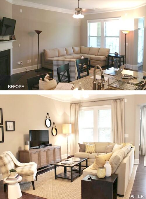 Ideas For Small Living Room Furniture Arrangements · Cozy Little Hou