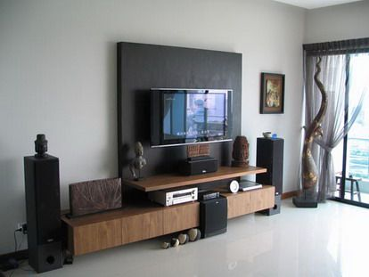 nice way to disquise your TV | Small living room design, Living .