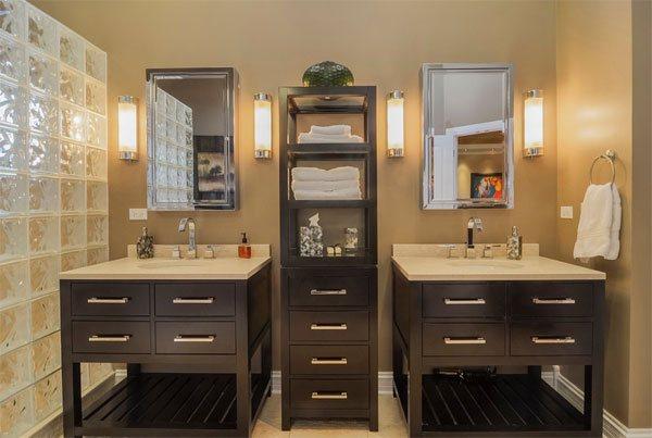 20 Clever Designs of Bathroom Linen Cabinets | Home Design Lov