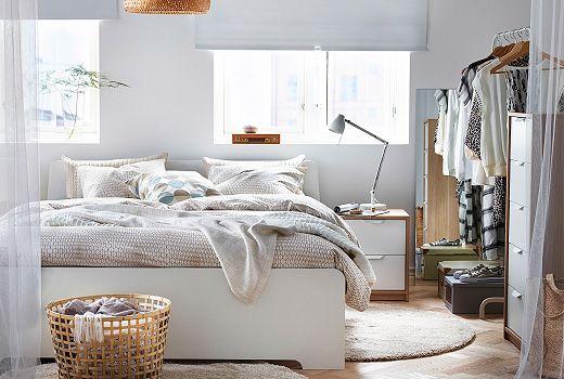 ASKVOLL series white stained oak effect/white - IKEA | Ikea .