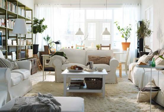Modern Furniture: IKEA Living Room Decorating Design Ideas 2012 .