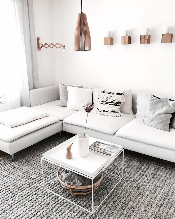 IKEA Soderhamn sectional in white | White furniture living room .