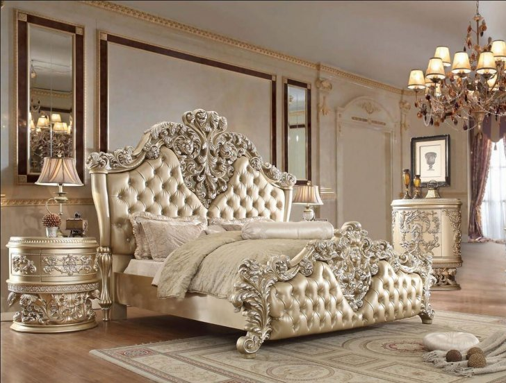 Traditional Bedroom Sets in Champagne, Silver by Homey Design HD .