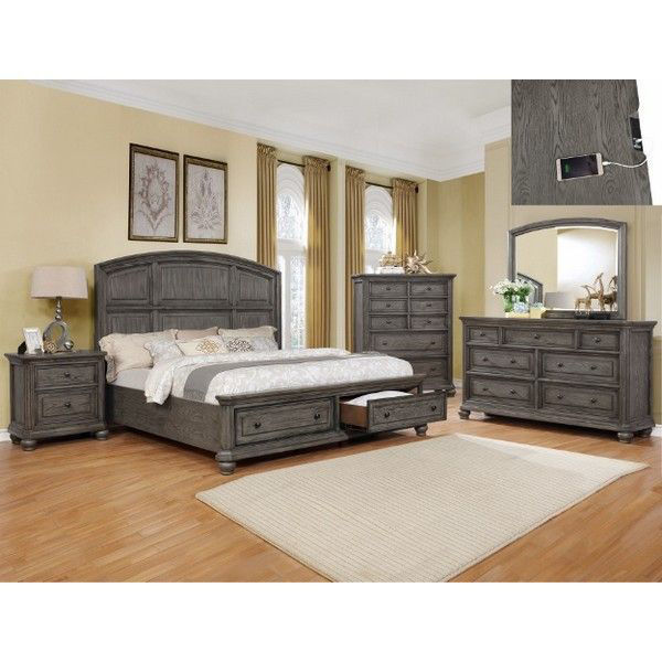 MB201 Traditional Gray King Bedroom S