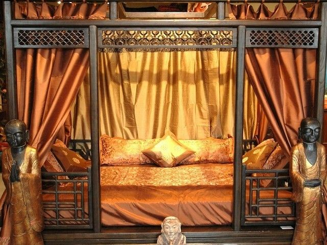 California king bed frame and headboard | Canopy bed frame, Bed .