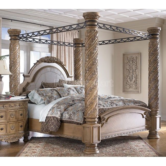 South Coast Poster Canopy Bed | Canopy bedroom sets, Canopy .