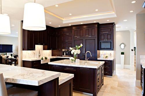 light floors dark cabinets | For the Home | Pinterest | Home decor .