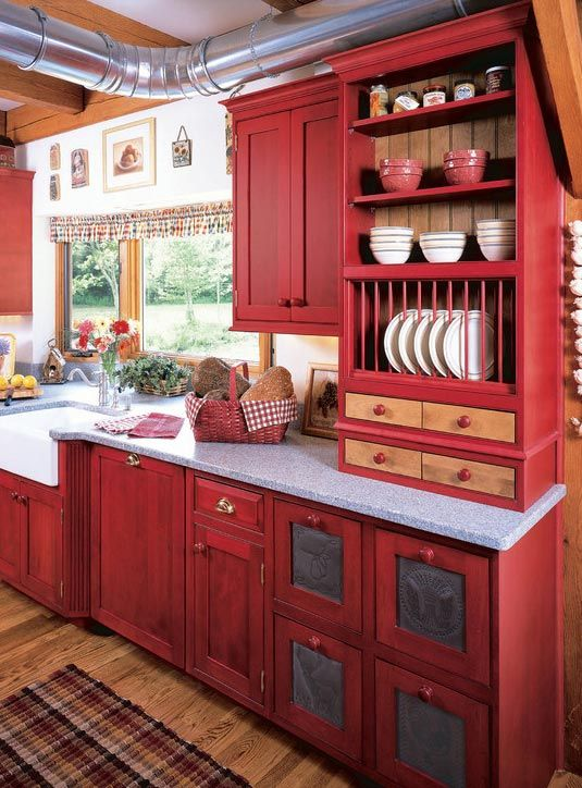 Country Kitchen Decorating Ideas | Country kitchen cabinets .