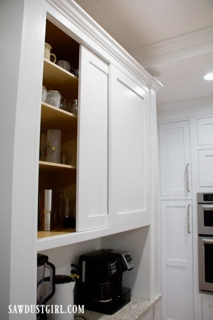 Sliding Cabinet Doors with Inset Track and Glides - Sawdust Girl .