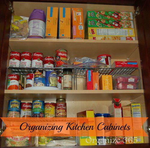 Organizing Kitchen Cabinets   Organize 365   Kitchen cabinet .