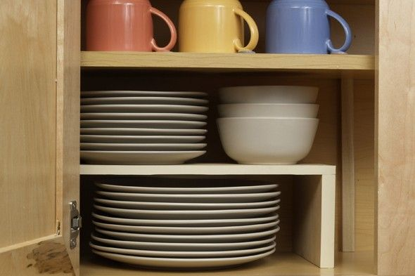 2 Easy DIY Kitchen Cabinet Organizers   Cabinet organization diy .