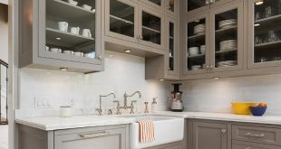 Cabinet color is River Reflections Benjamin Moore. Chelsea .