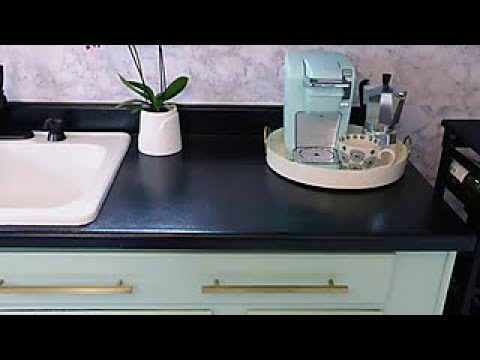 How to Paint Laminate Kitchen Countertops - DIY Network - YouTu