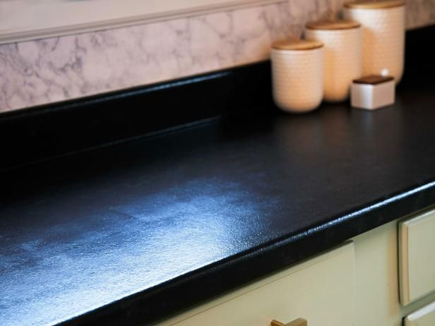 How to Paint Laminate Countertops to Look Like Stone | Diy kitchen .