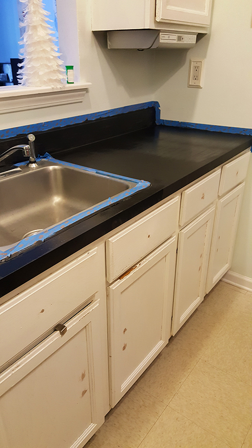 How To Paint Kitchen Countertops! - The Honeycomb Ho