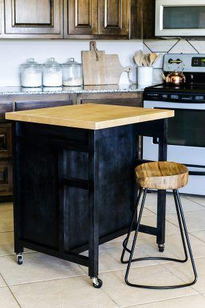 How to build a DIY kitchen island on wheels | Kitchen island on .