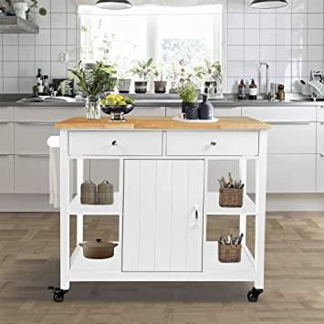 Amazon.com - ChooChoo Kitchen Cart on Wheels with Wood Top .
