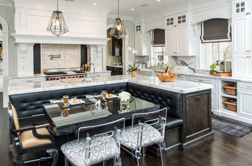 Beautiful Kitchen Islands with Bench Seating - Designing Id