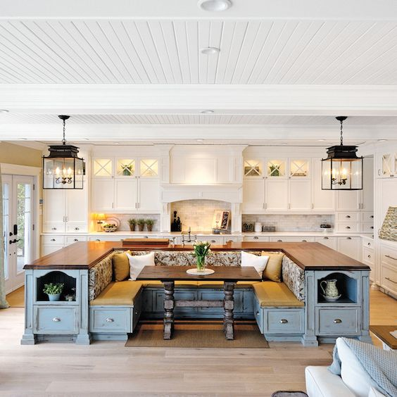30 Kitchen Islands With Seating And Dining Areas - DigsDi