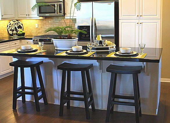 Setting Up A Kitchen Island With Seating | Kitchen island stools .
