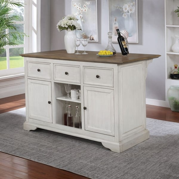 Shop The Gray Barn Granary Transitional 56-inch Kitchen Island .