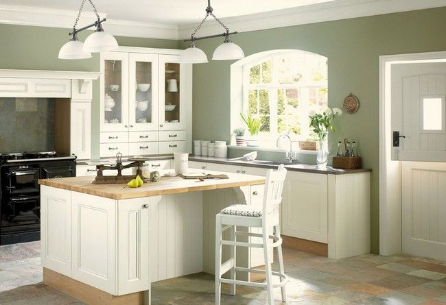 The 7 Best Wall Colors for Kitchens | Green kitchen walls, Sage .