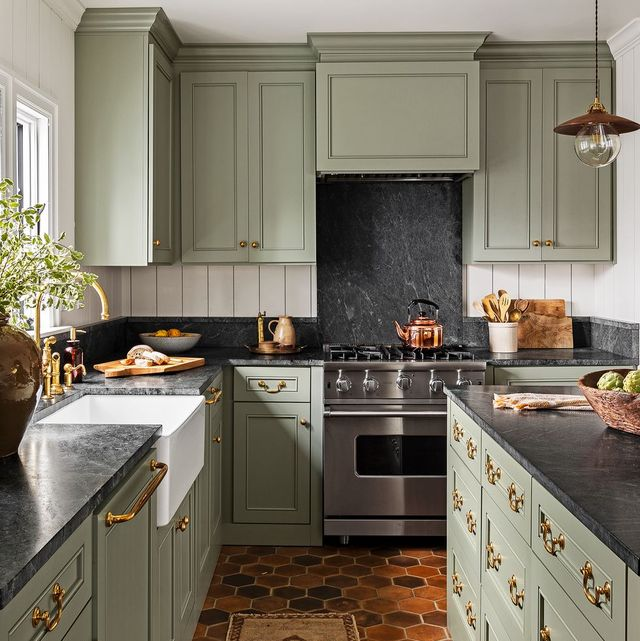 15 Best Green Kitchen Cabinet Ideas - Top Green Paint Colors for .