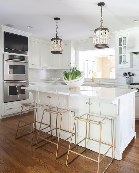 Shells Pendant Lights Over Island - Transitional - Kitch