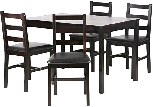Amazon.com - Dining Table Set Kitchen Dining Table Set Wood Table .