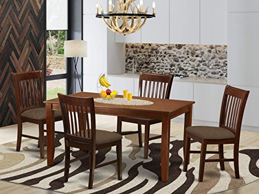 Amazon.com - East West Furniture 5-Piece Kitchen Table Chairs Set .